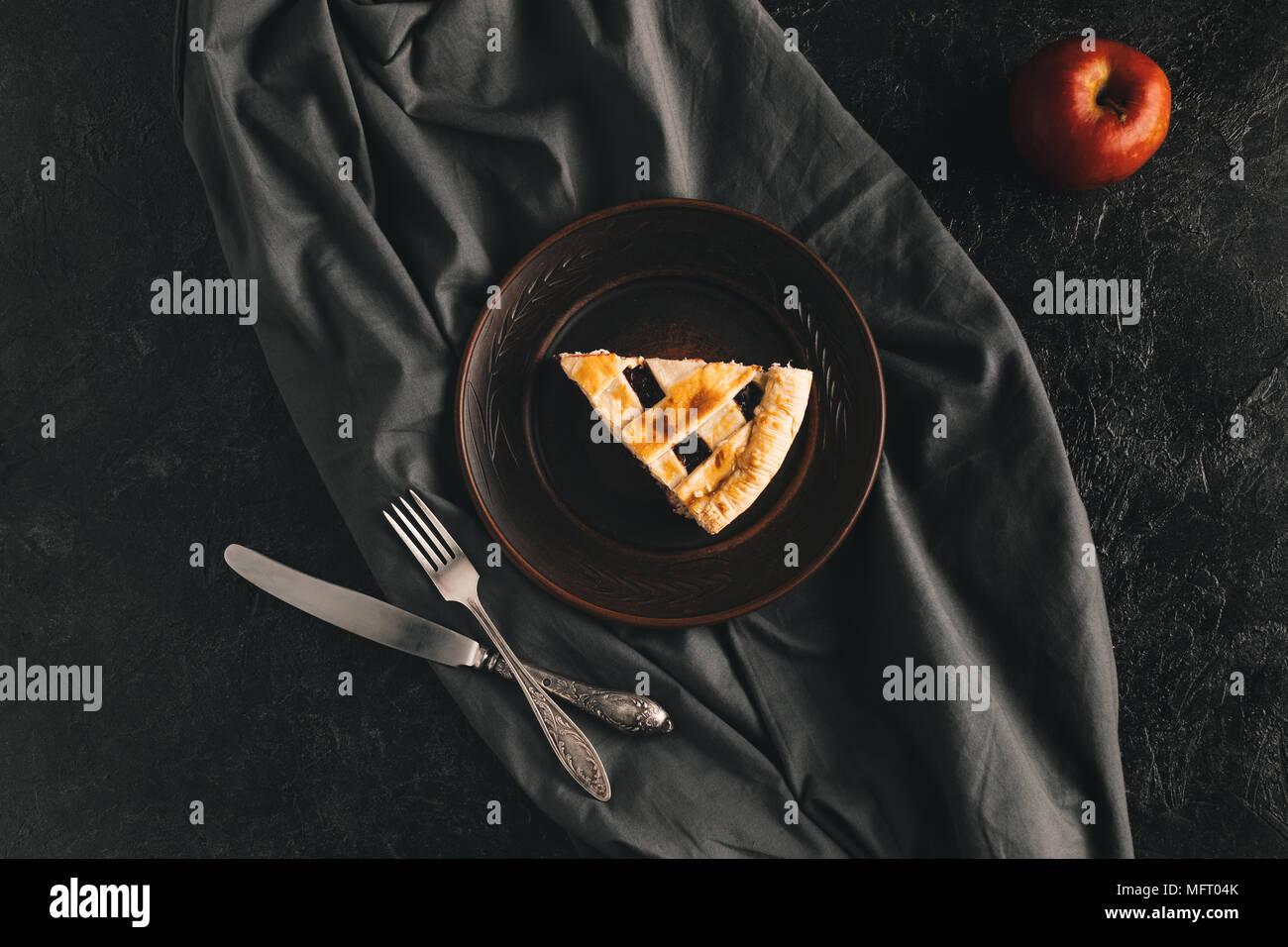 piece of apple pie - Stock Image