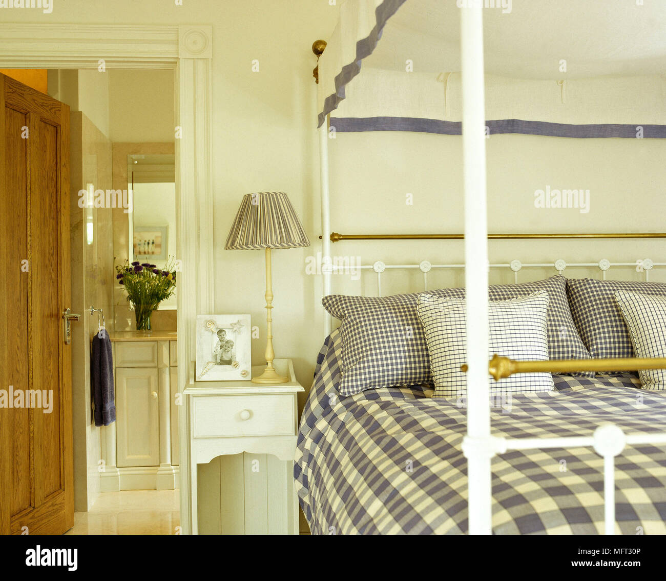 Scandinavian Folk Obsession Scandinavian Box Beds: Traditional Bedroom Detail Brass Four Poster Bed Canopy