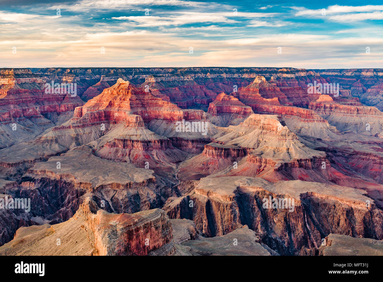 Grand Canyon, Arizona, USA at dawn from the south rim. - Stock Image