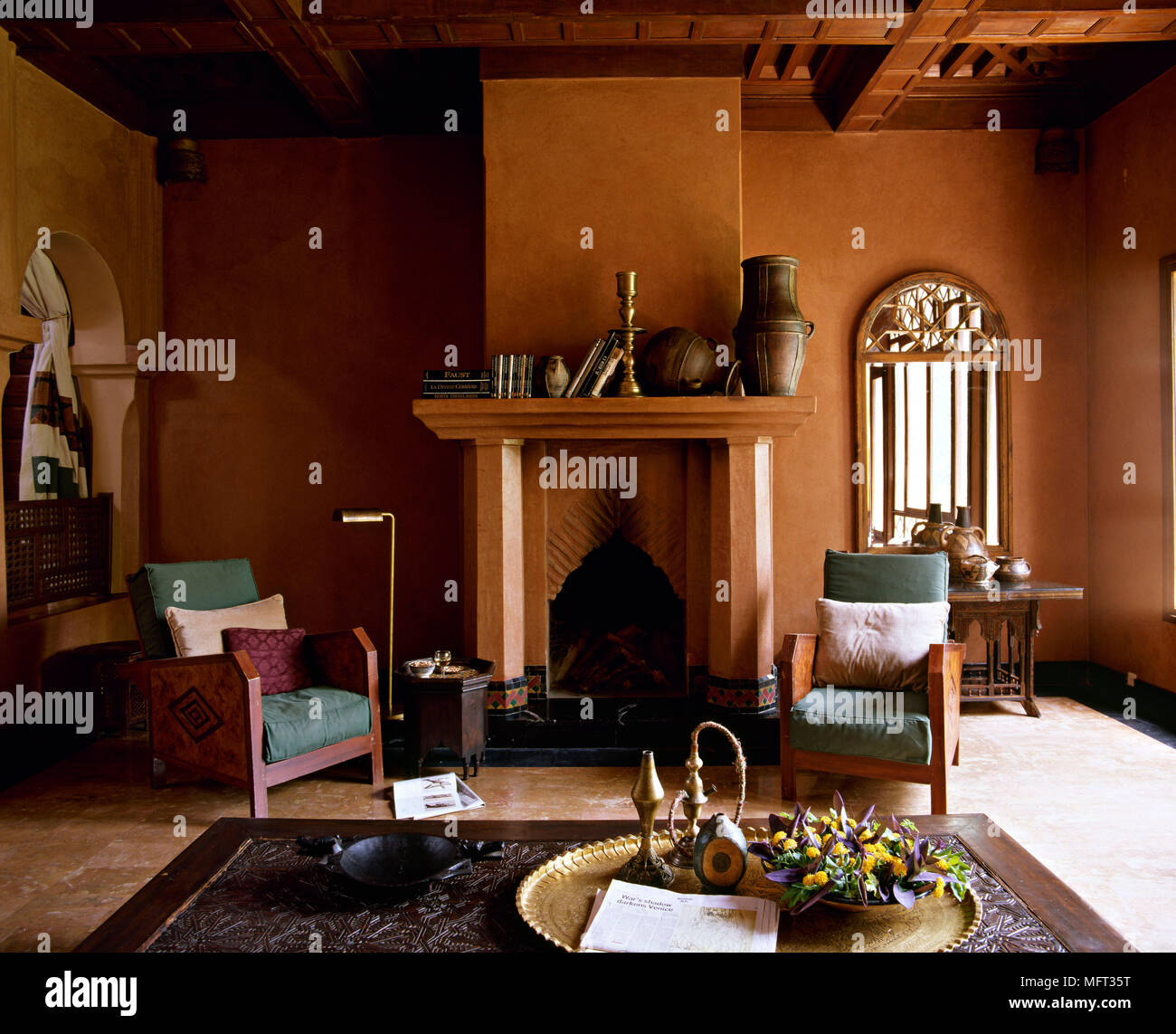 Moroccan Hotel Suite Sitting Room Fireplace Interiors Hotels Rooms