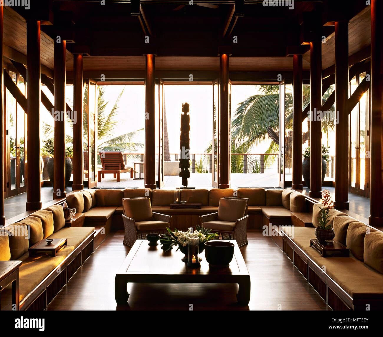 Lounge Area Of Thai Hotel Communal Seating Area Interiors Hotels Rooms Architecture Stock Photo Alamy