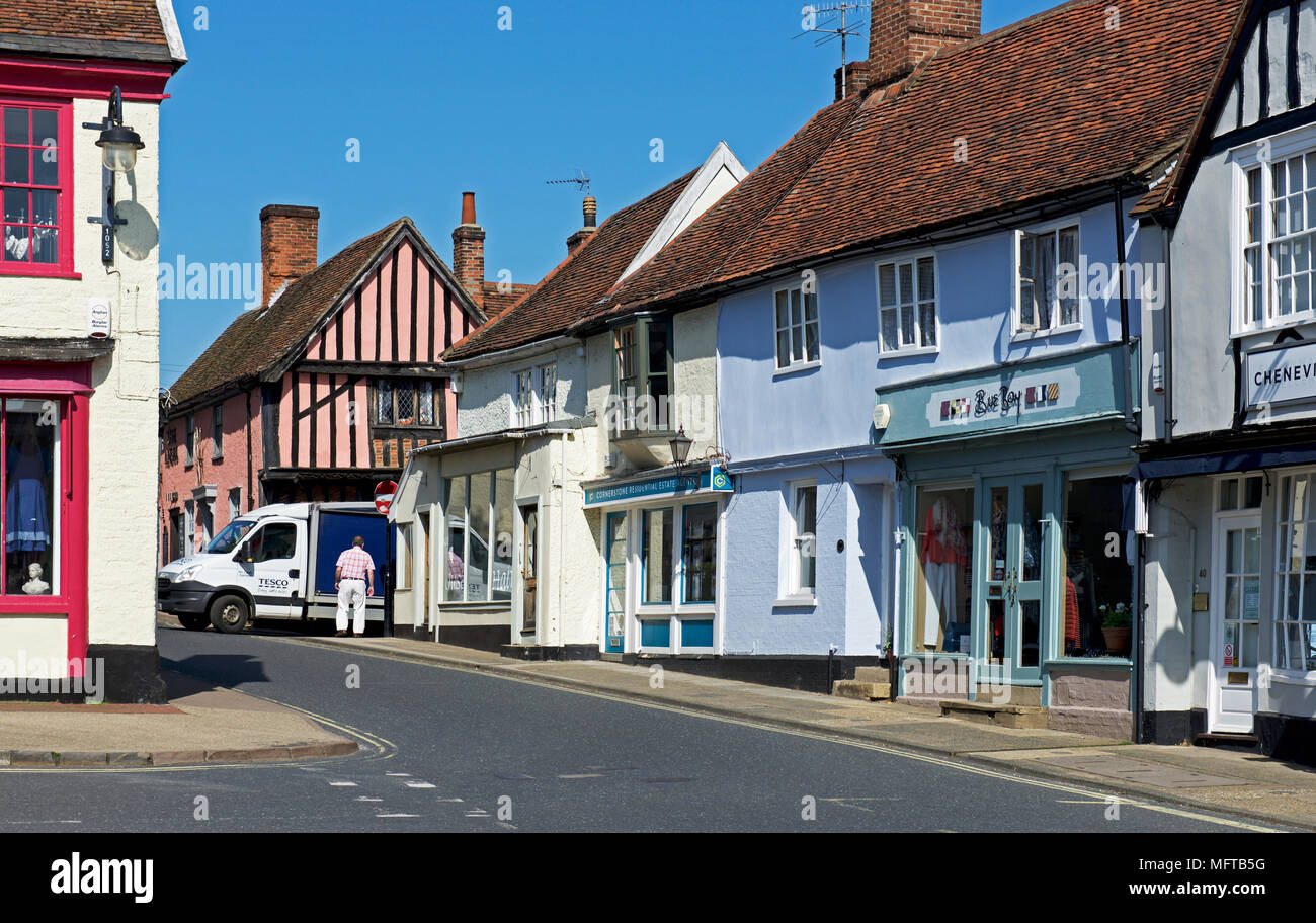 Tesco delivery van in Woodbridge, Suffolk, England UK - Stock Image