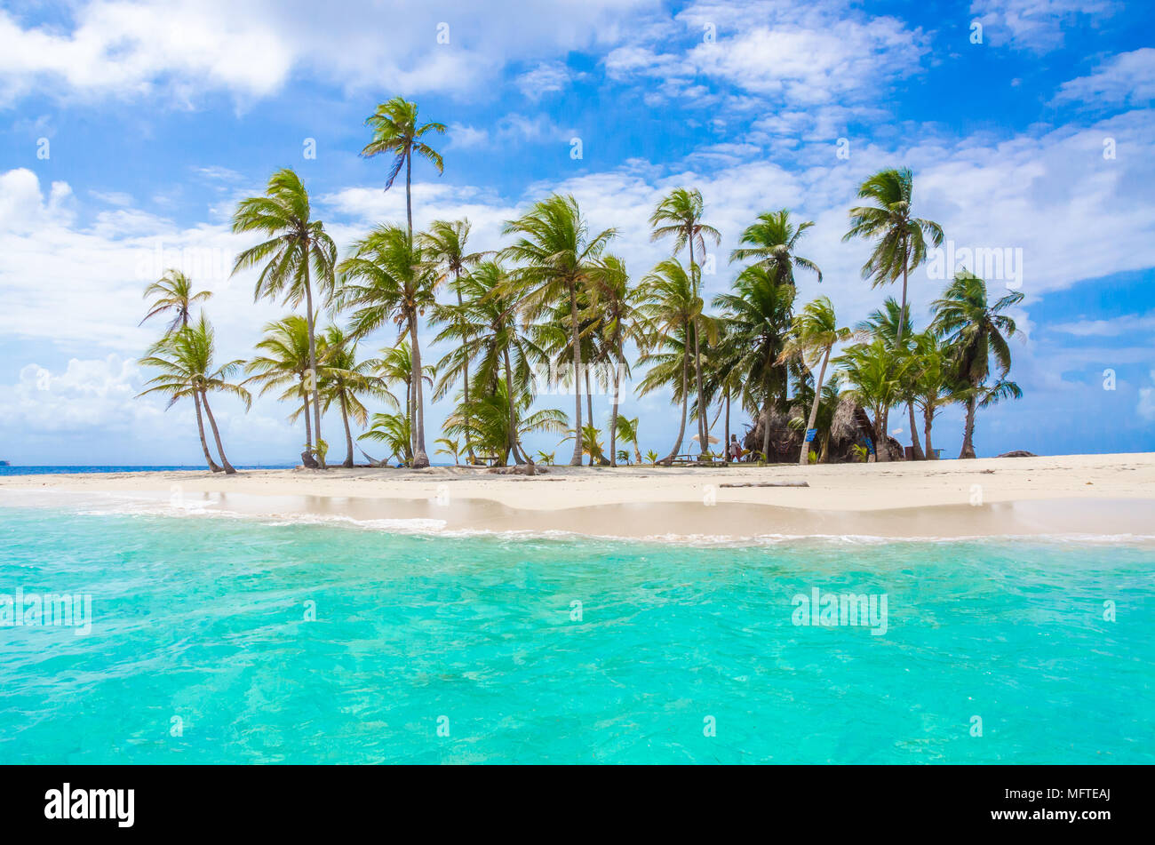 Beautiful Lonely Beach In Caribbean San Blas Island Kuna Yala Panama Turquoise Tropical Sea Paradise Travel Destination Central America Stock Photo Alamy