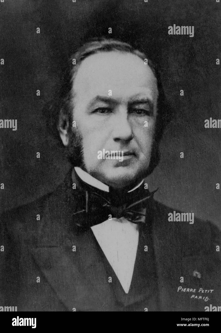 Portrait of Claude Bernard ( 1813 - 1878 )  French doctor  -  photography by  Pierre Petit - Stock Image
