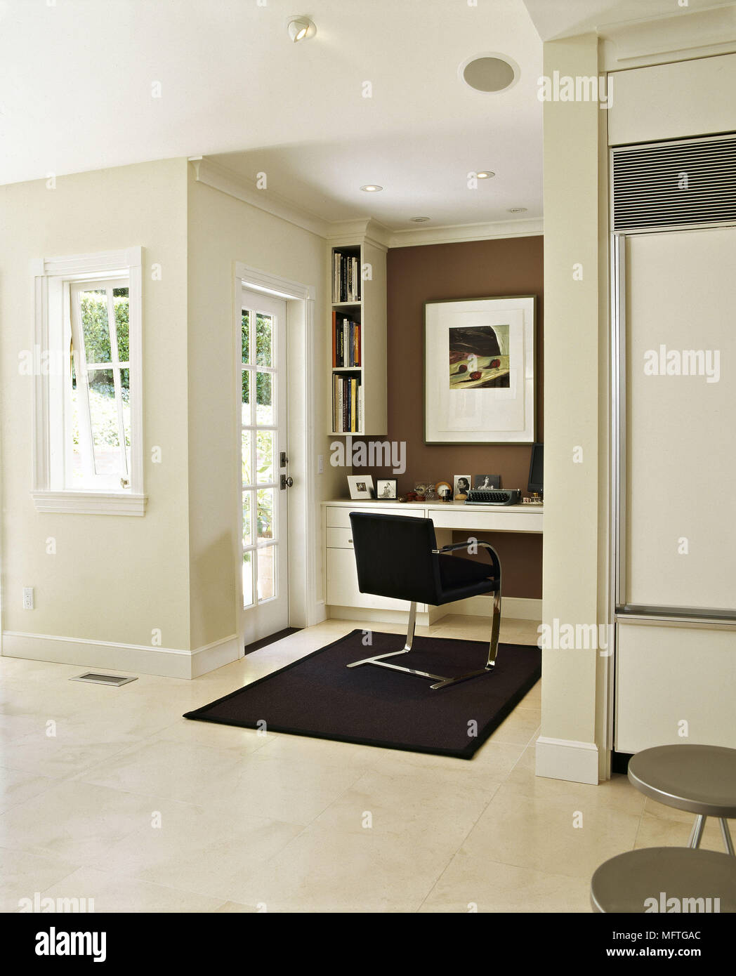 Modern neutral open plan room office area interiors rooms open plan home offices