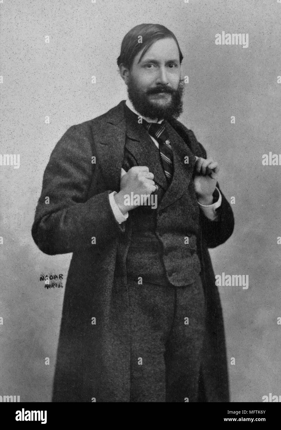Portrait of Jean Louis Forain ( 1852 - 1931 ) French painter  -  photography by  Paul Nadar ( 1856 - 1939 ) - Stock Image