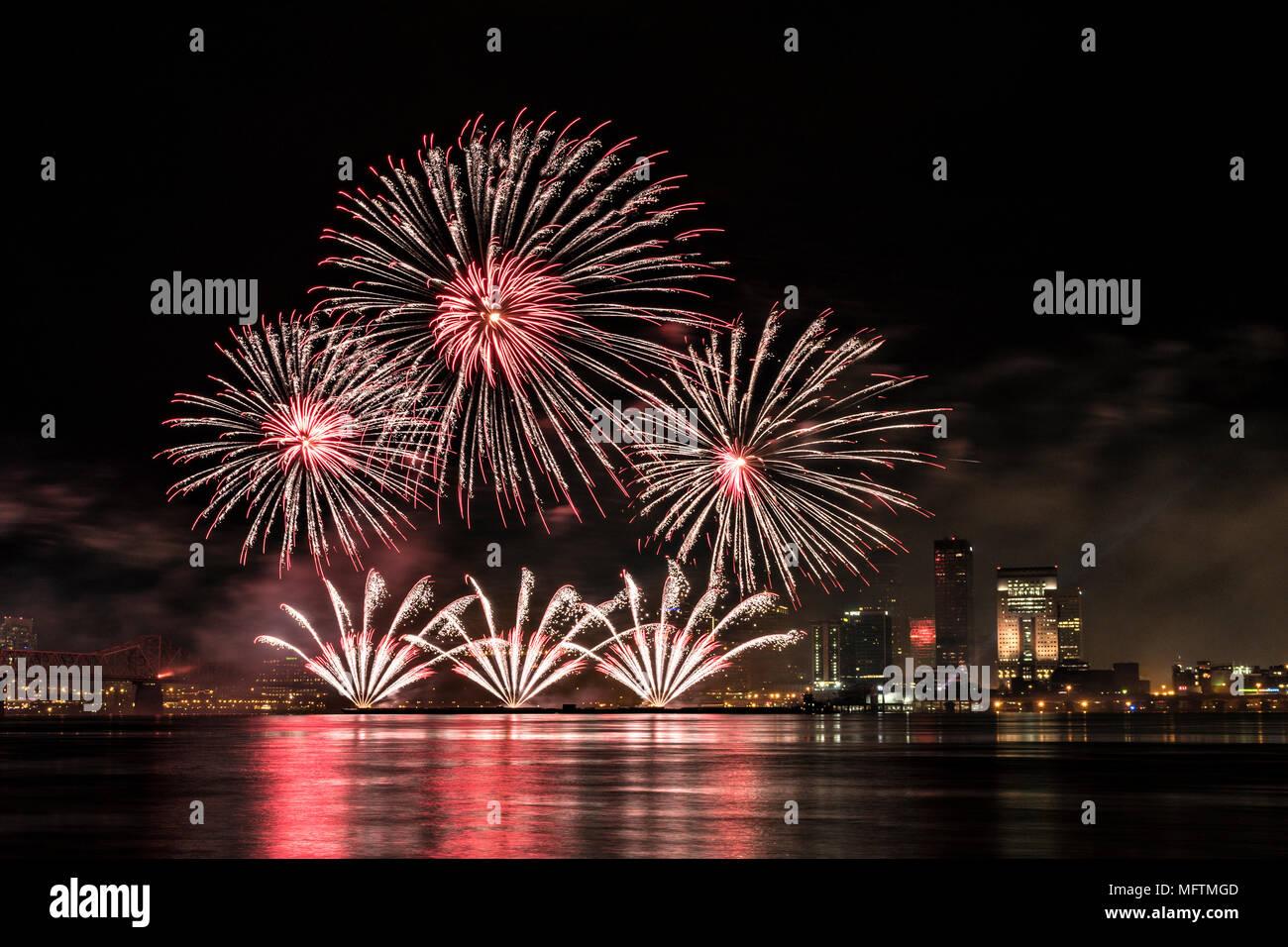 2018 Thunder Over Louisville Fireworks Display in Louisville Kentucky Stock Photo