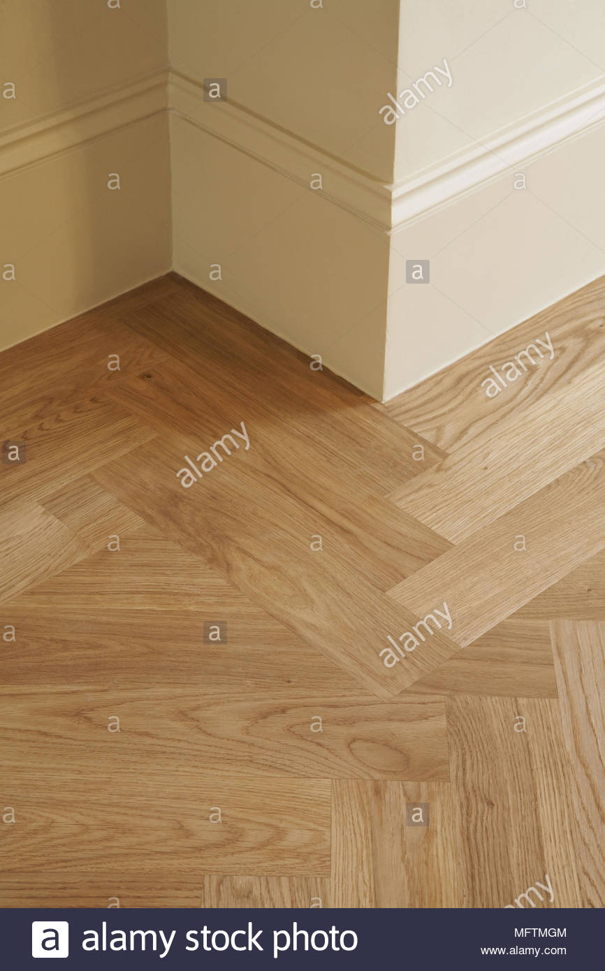 Wood Floor And Skirting Board Stock Photos Wiring Close Up Of Wooden Parquet Flooring Image