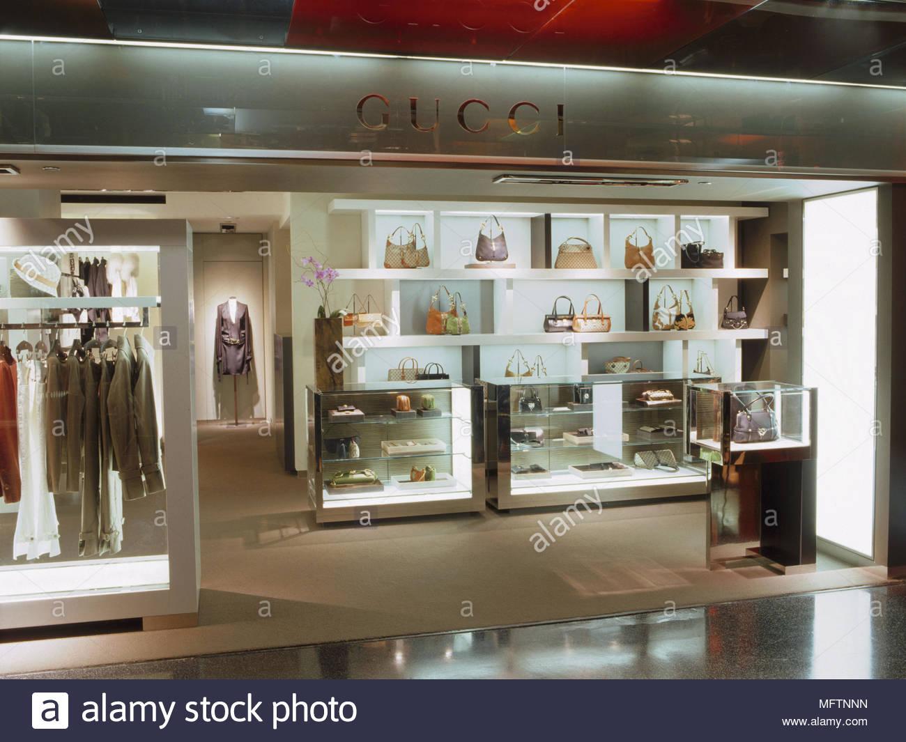 7903d731392 Interior of Gucci shop Interiors designer shops shopping retailing display  clothing