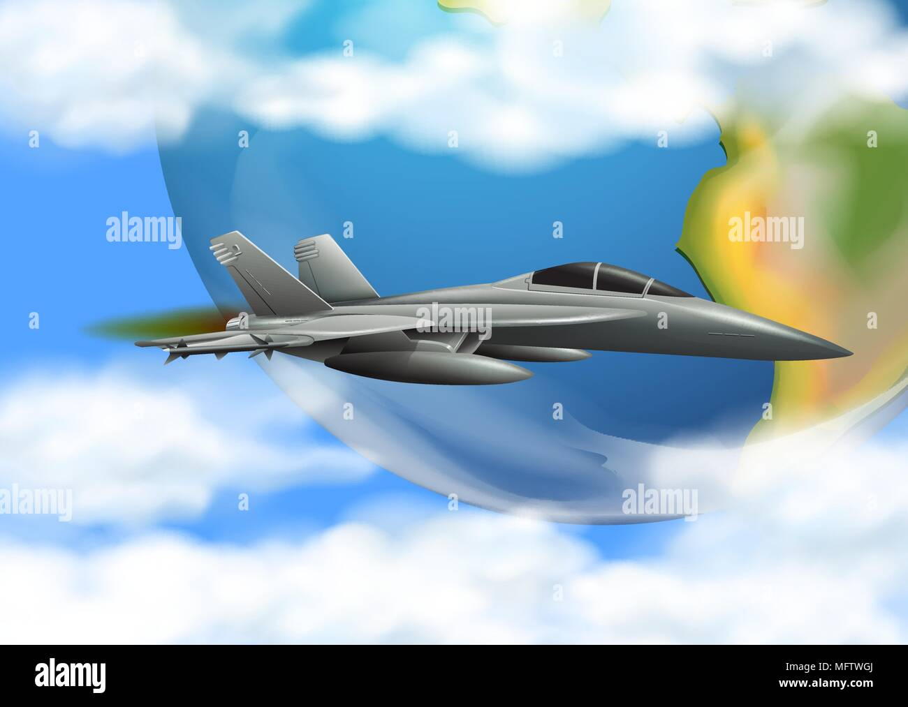 Army Airforce on the Sky illustration Stock Vector
