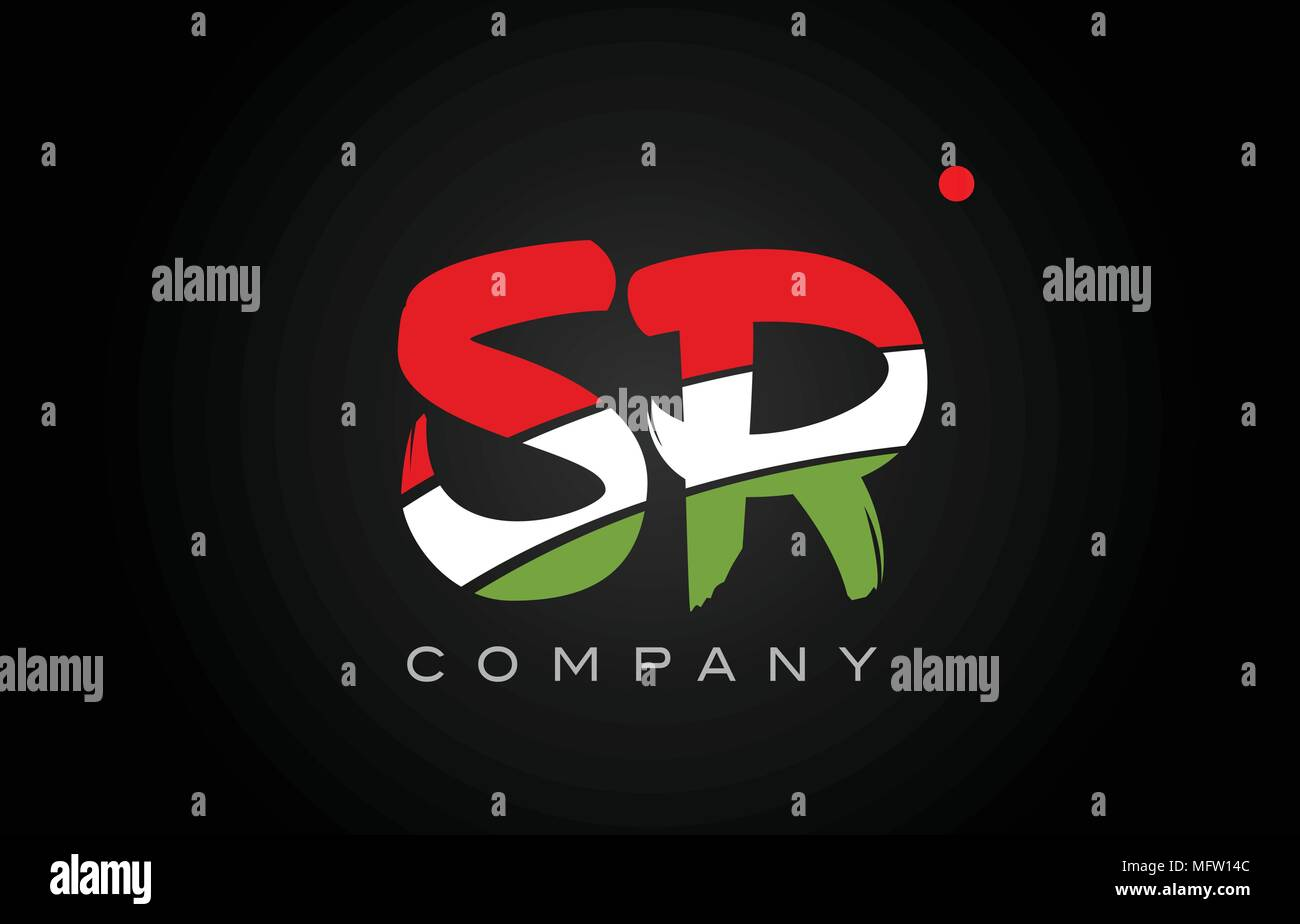 SR S R letter logo combination alphabet