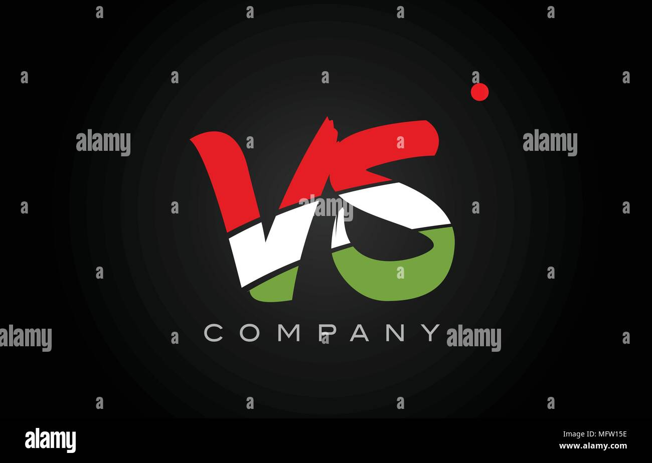 VS V S letter logo combination alphabet vector creative company icon design template modern - Stock Vector
