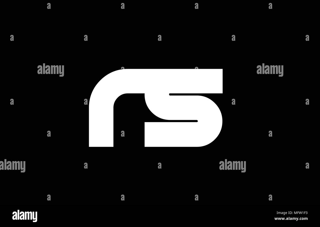 RS R S letter logo combination alphabet
