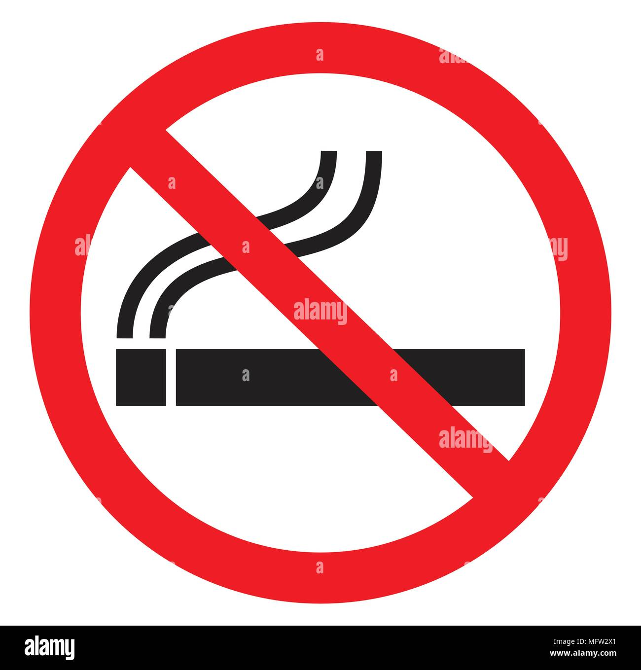 No Smoking Symbol Icon Stock Vector Art Illustration Vector Image