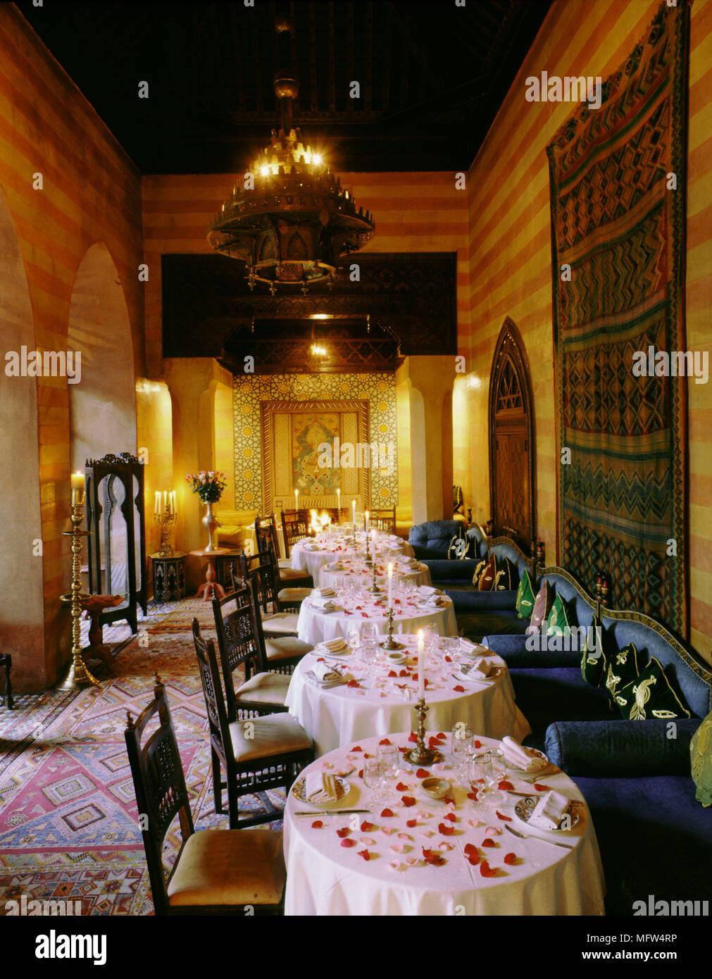 Interior Of The Yacout Restaurant Interiors Restaurants Moroccon Eastern Arabian Ambient