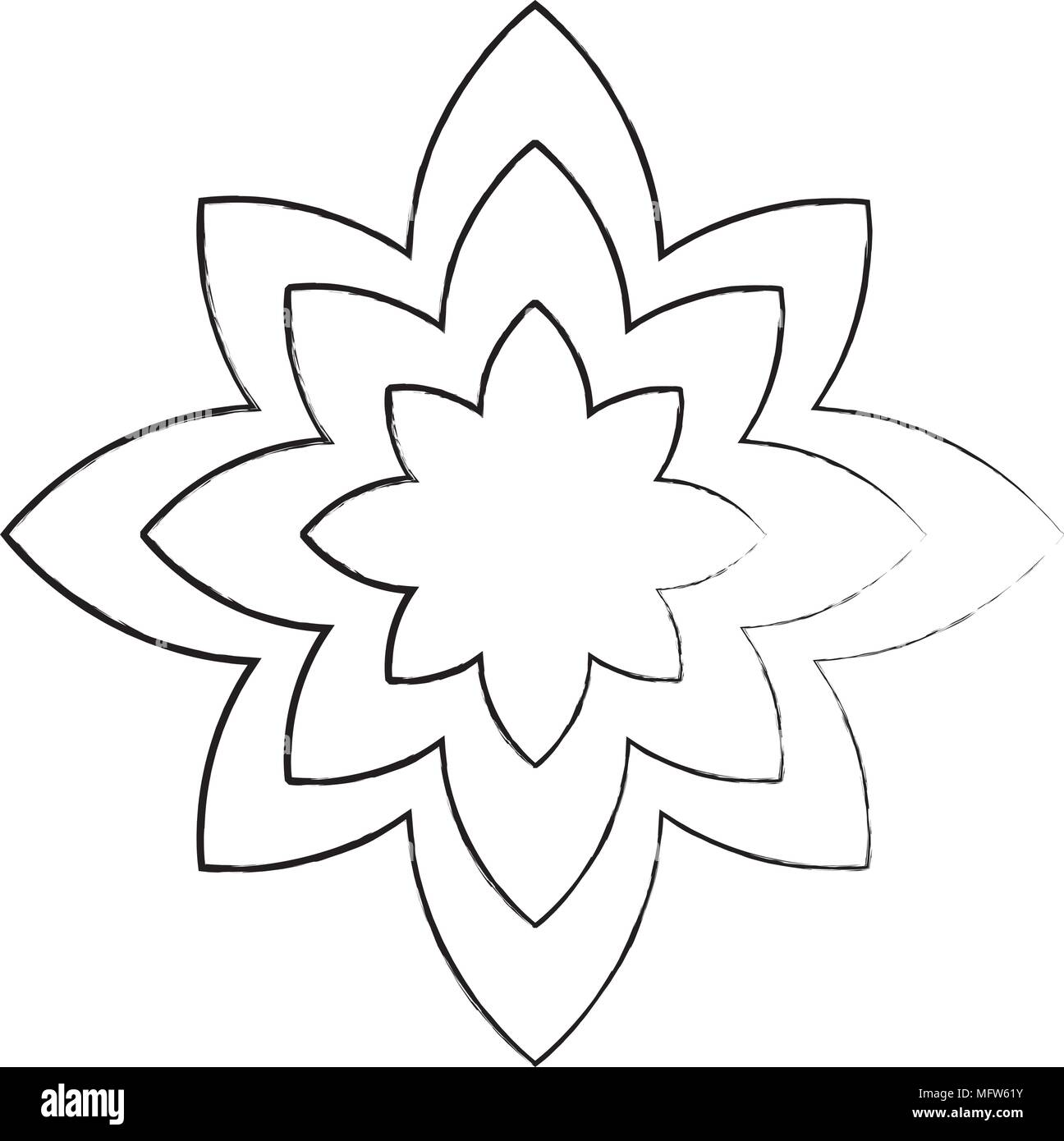 Sketch Of Lotus Flower Icon Yoga Symbol Over White Background Vector Illustration Stock Vector Image Art Alamy