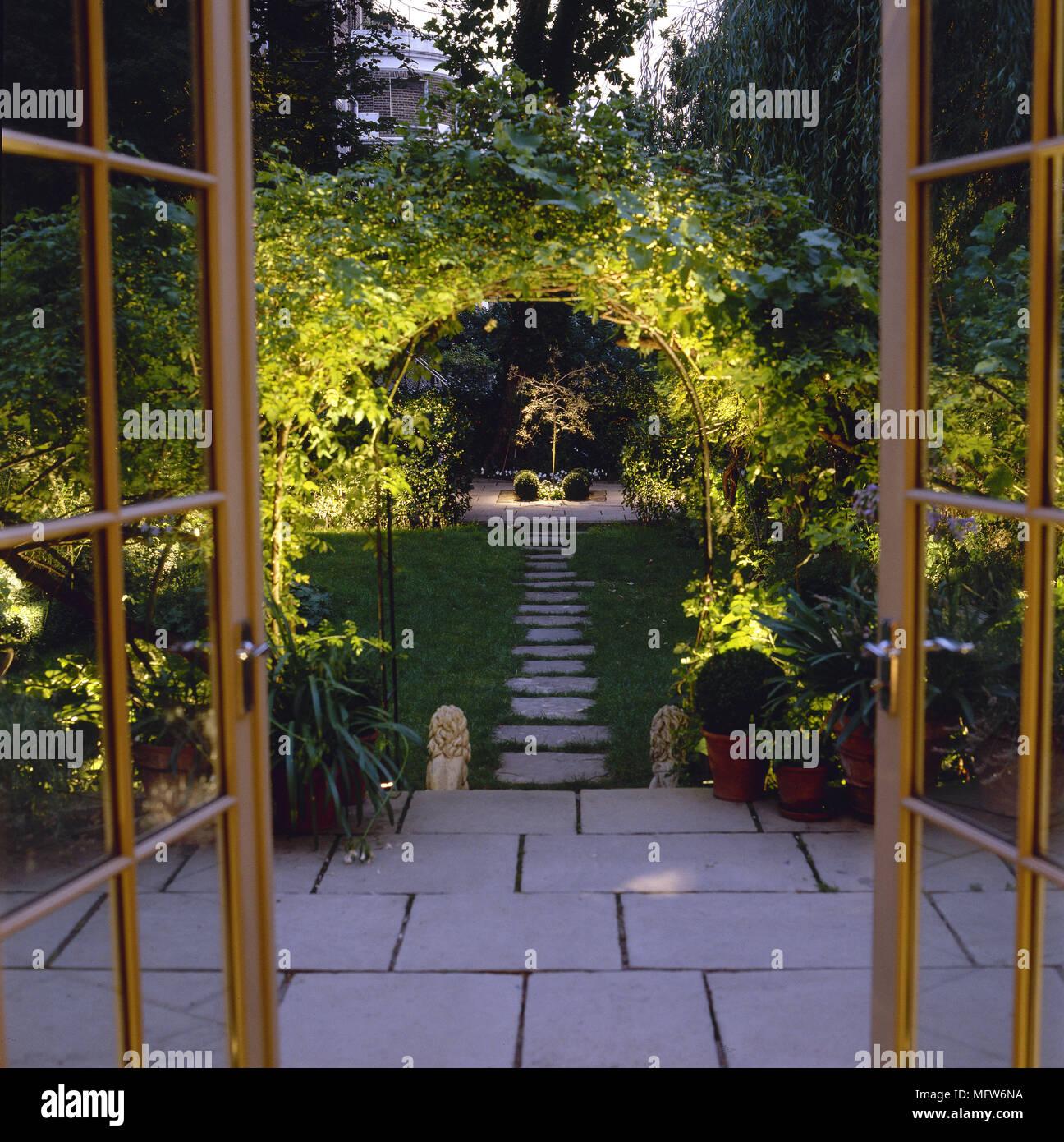Patio Doors Garden Stock Photos Amp Patio Doors Garden Stock