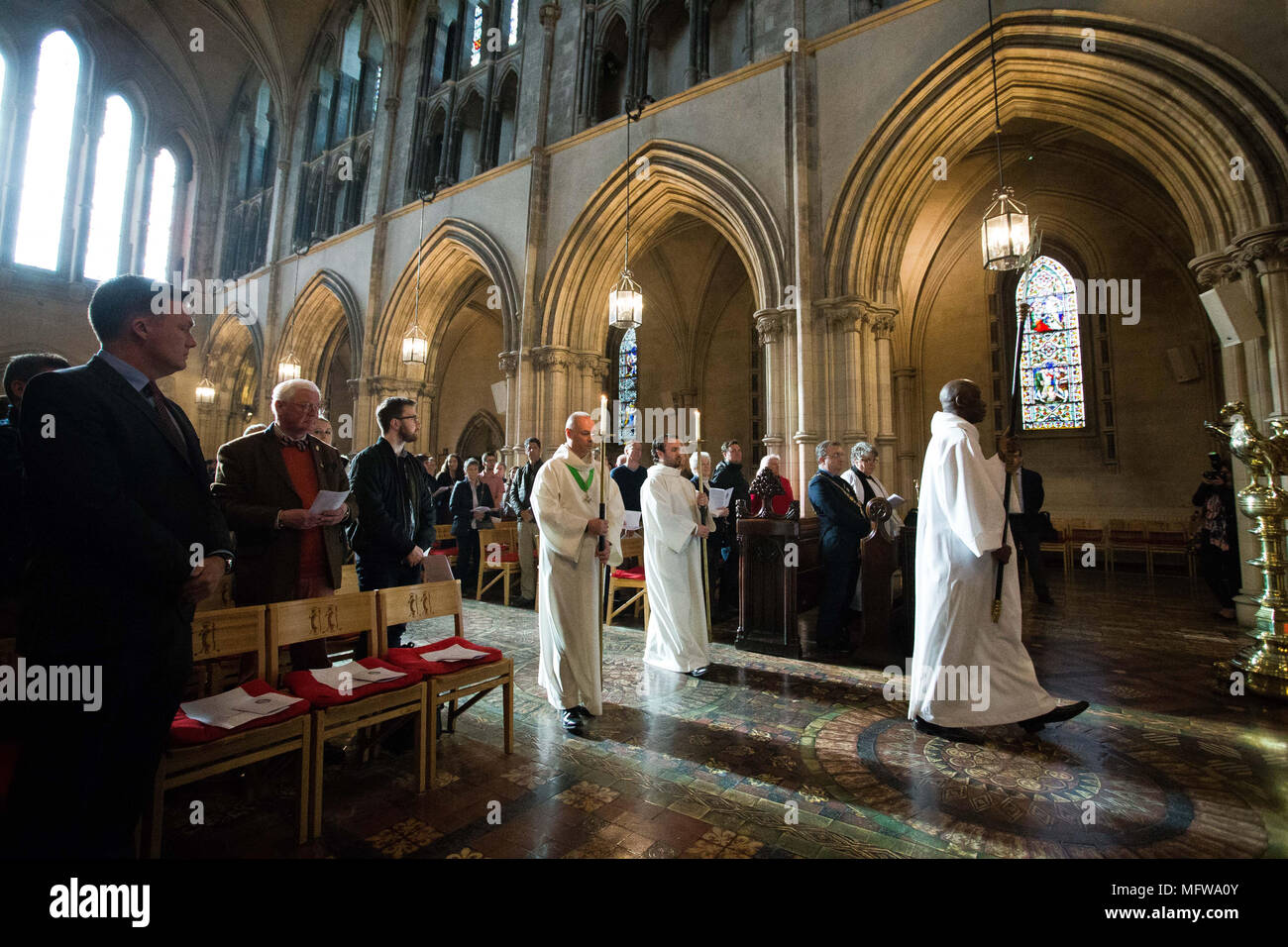 HHH IRISH Heart 26/4/2018 Christ Church Cathedral ,Dublin. The heart of Laurence OÕToole to Archbishop of Dublin, The relic was stolen from the cathedral in March 2012 and after a six year absence has been recovered undamaged. Pic Tom Honan. - Stock Image