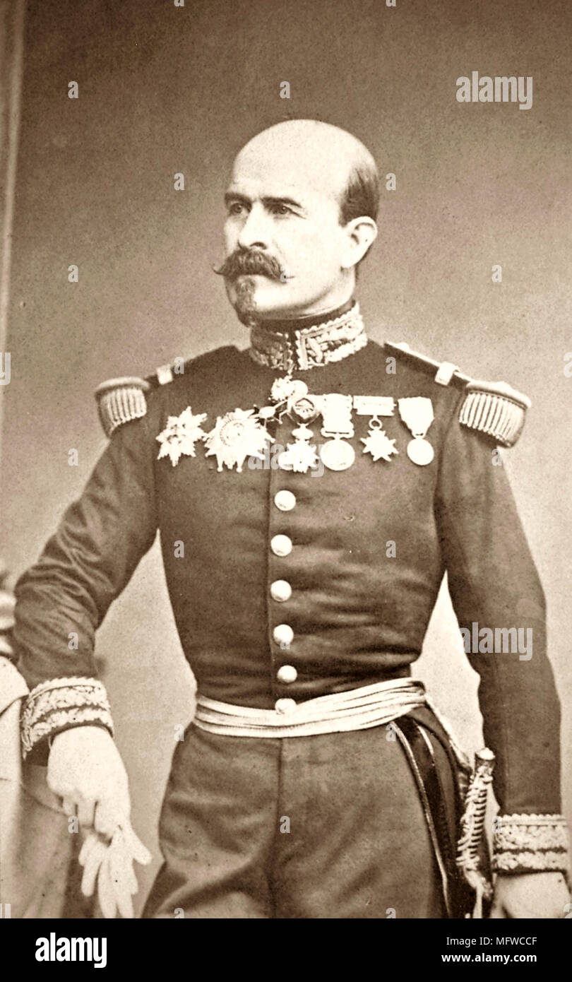 Louis-Jules Trochu (1815 – 1896) French military leader and politician. He served as President of the Government of National Defense, France's de facto head of state from 1870 - 1871 - Stock Image