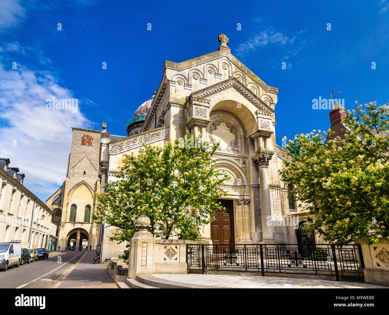 Basilica of St. Martin in Tours - France - Stock Image