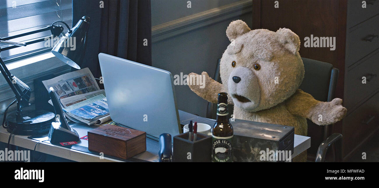 TED 2 2015 Universal Pictures film with Seth MacFarlane - Stock Image