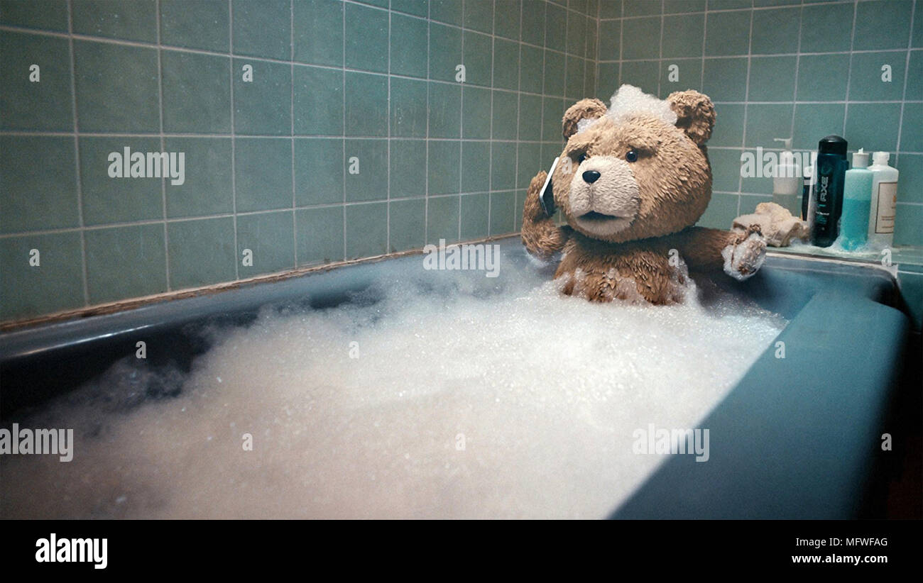 TED 2012 Universal Pictures film with   Seth MacFlarlane - Stock Image