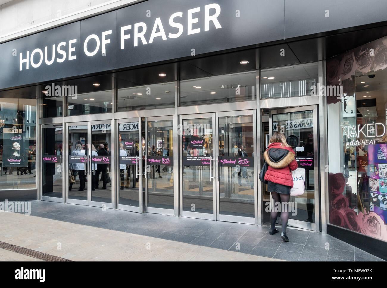 House of Fraser store, Leeds. UK - Stock Image