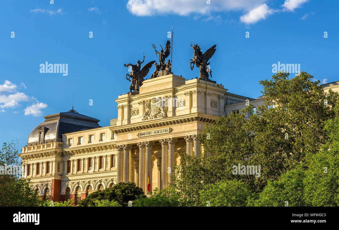 Ministry of Agriculture in Madrid - Spain Stock Photo