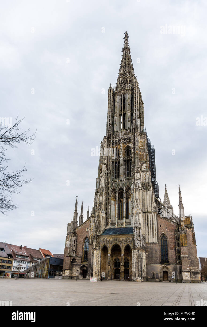 View of Ulm Minster - Germany, Baden-Wurttemberg Stock Photo