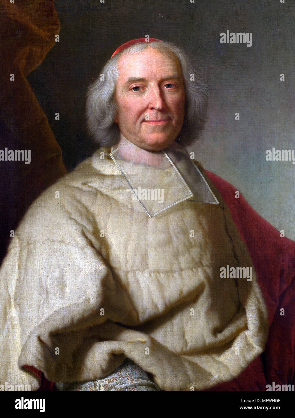 André-Hercule de Fleury André-Hercule de Fleury, Bishop of Fréjus, Archbishop of Aix (1653 – 1743) French cardinal Portrait by Hyacinthe Rigaud - Stock Image