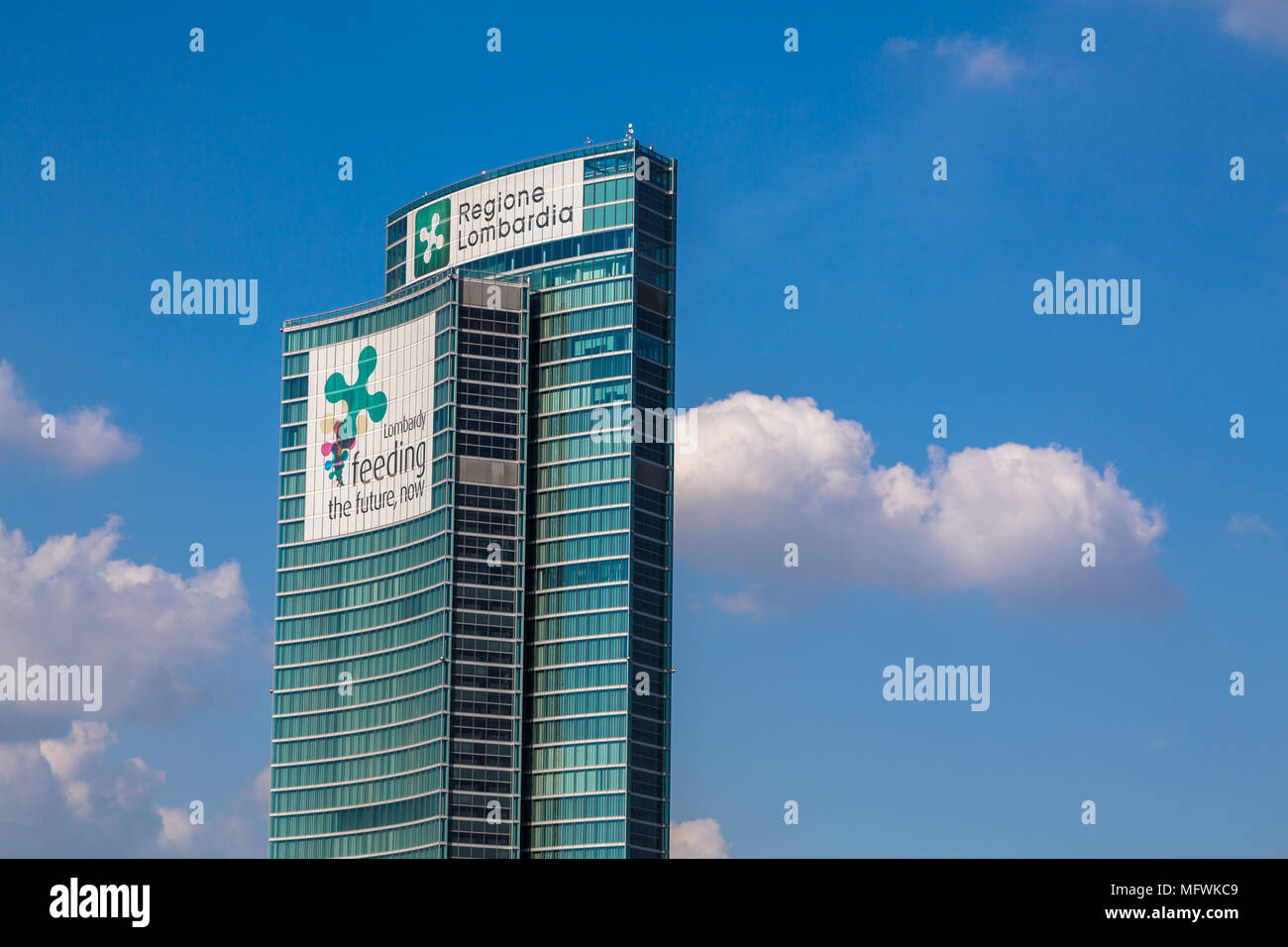 Palazzo Lombardia, Milan, italy Stock Photo