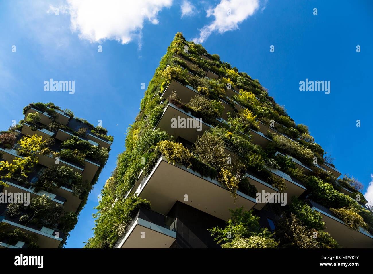 Bosco Verticale Residential Buildings Milan Italy