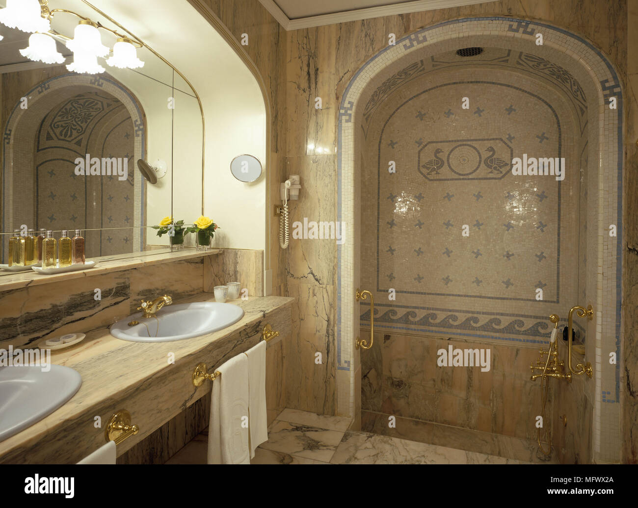 View of an esthetic bathroom - Stock Image