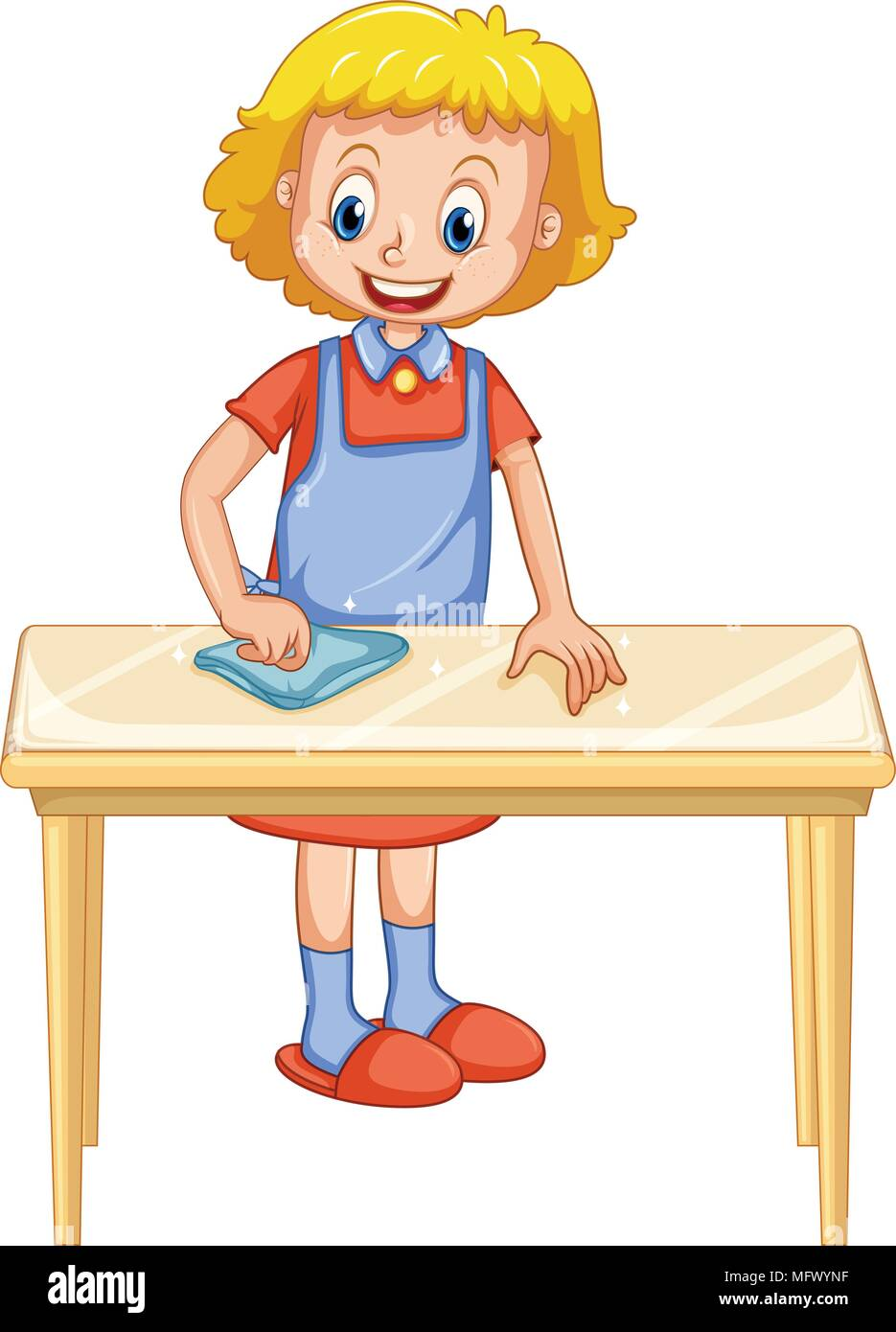 Lady Cleaning Kitchen Table Stock Photos Amp Lady Cleaning