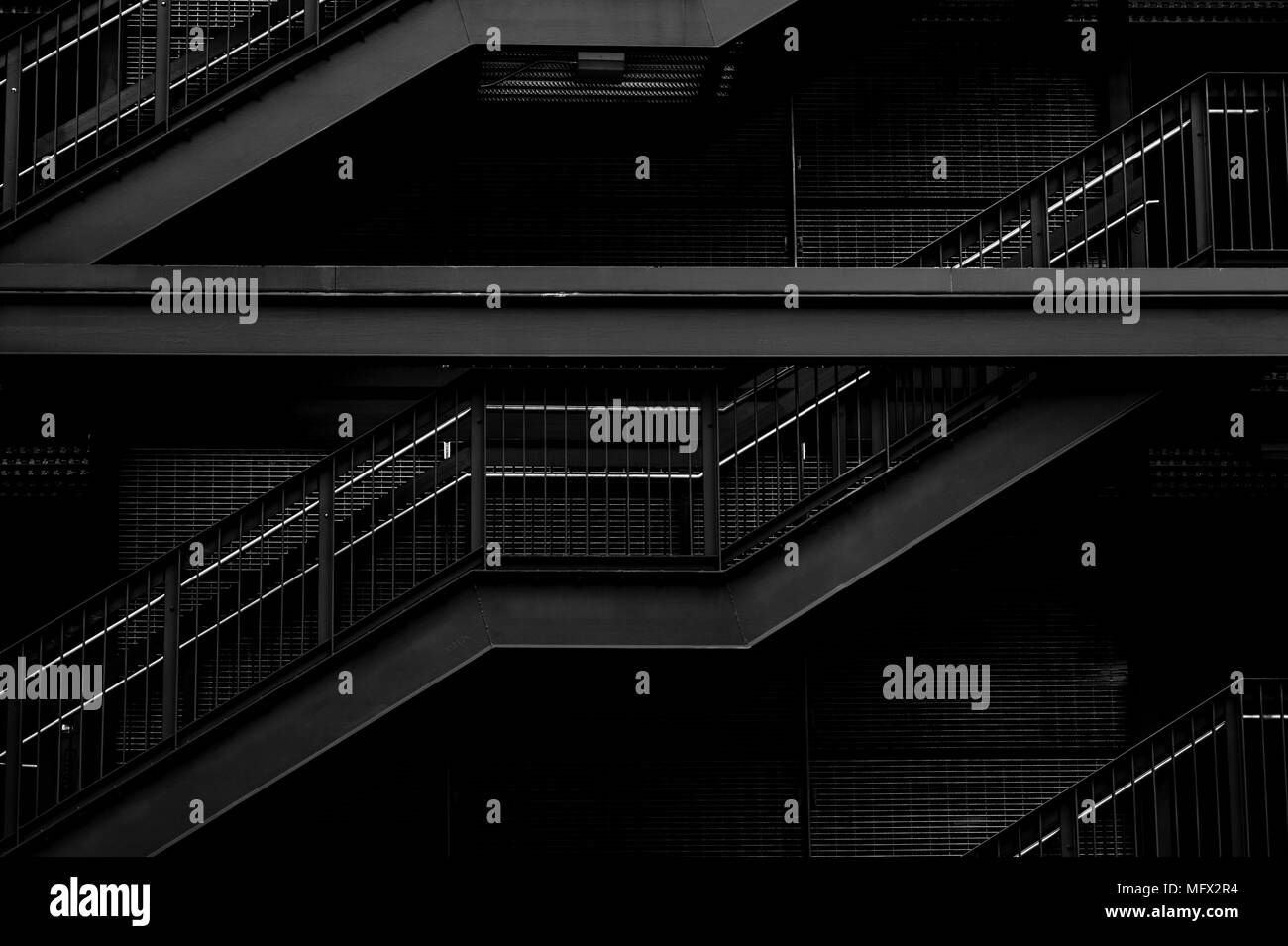 Exterior Metal Stairs Stock Photos Amp Exterior Metal Stairs