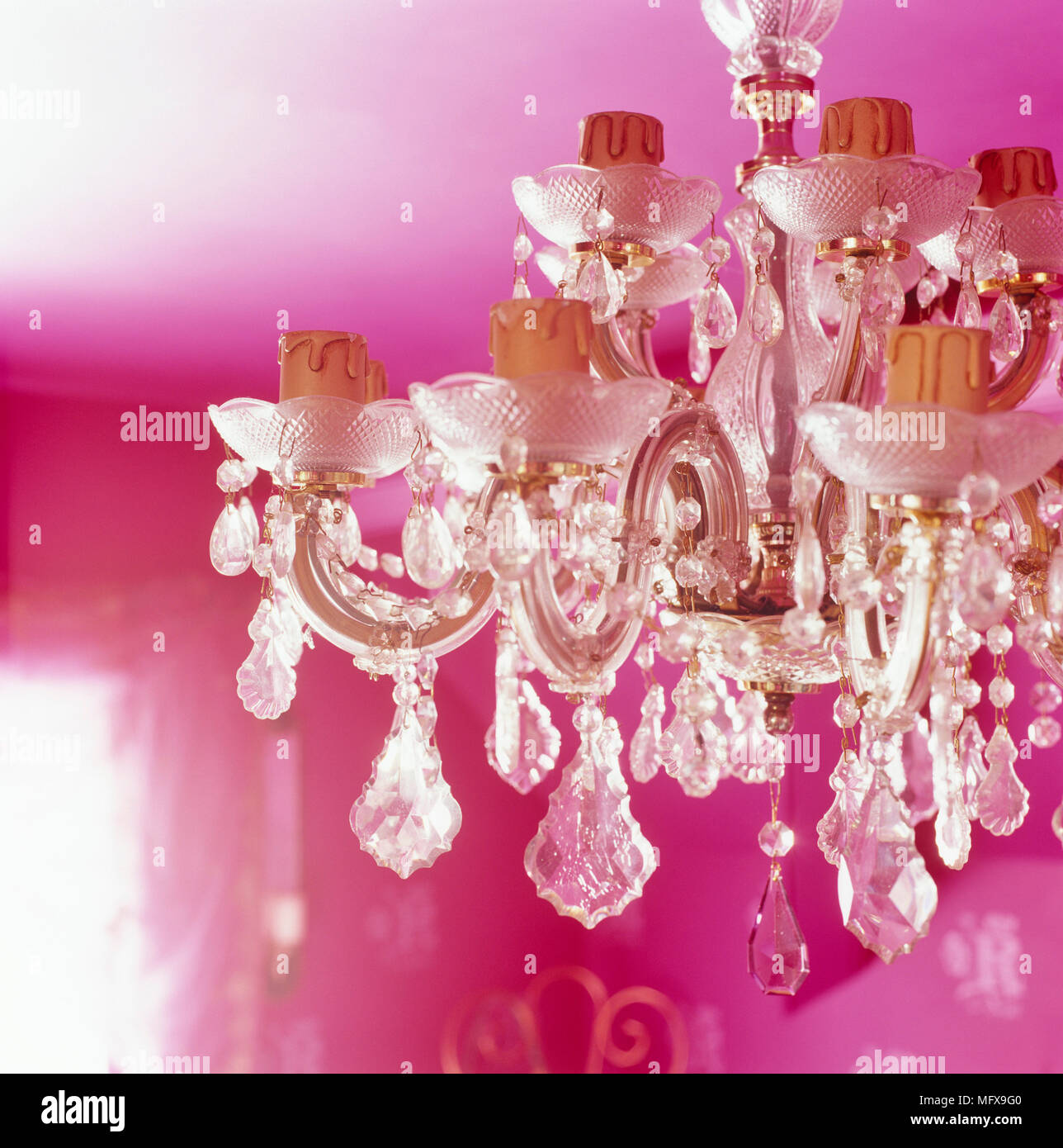 Old Fashioned Style Glass Chandelier