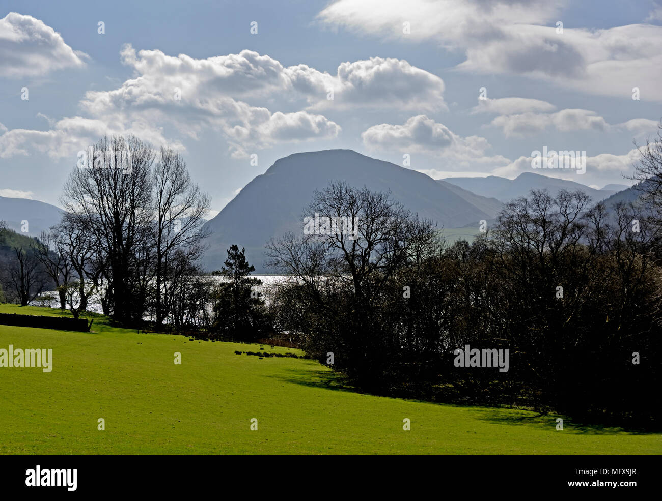Mellbreak and Loweswater. Lake District National Park, Cumbria, England, United Kingdom, Europe. - Stock Image