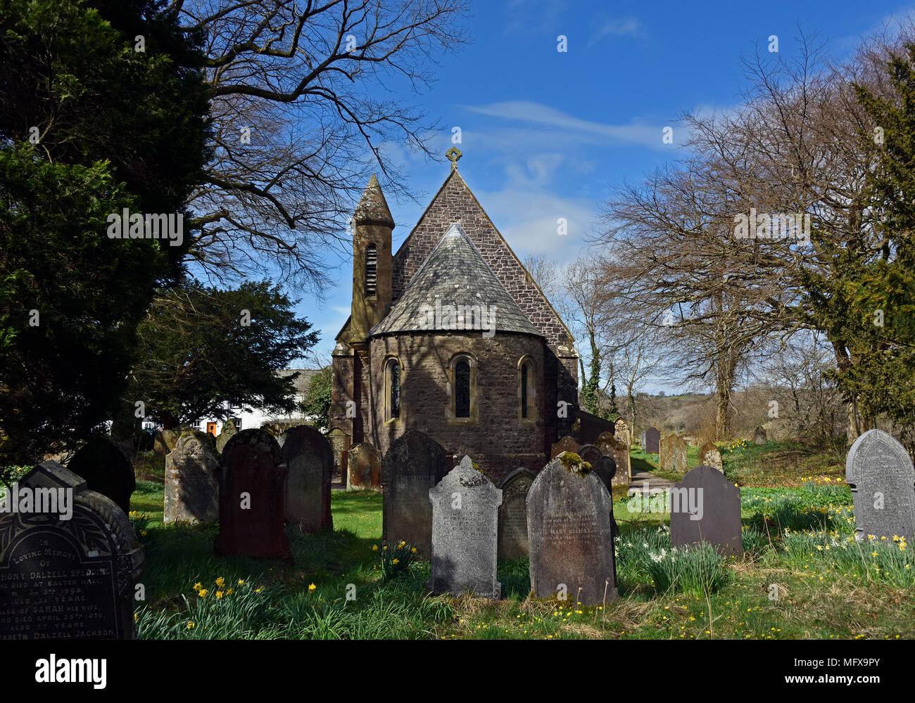 Church of Saint Mary. Ennerdale Bridge, Lake District National Park, Cumbria, England, United Kingdom, Europe. - Stock Image