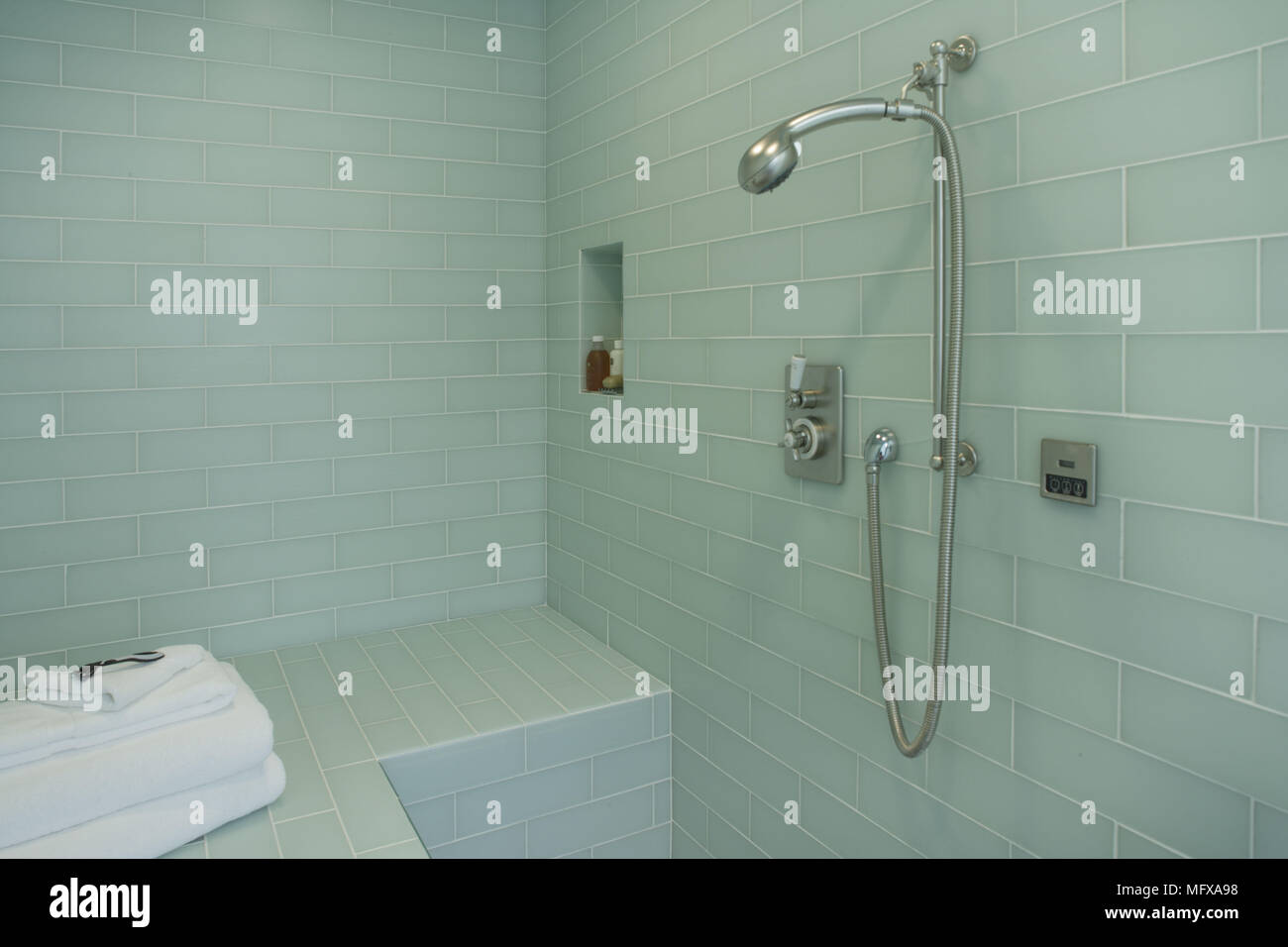 Tiled Shower Area Stock Photos & Tiled Shower Area Stock Images - Alamy