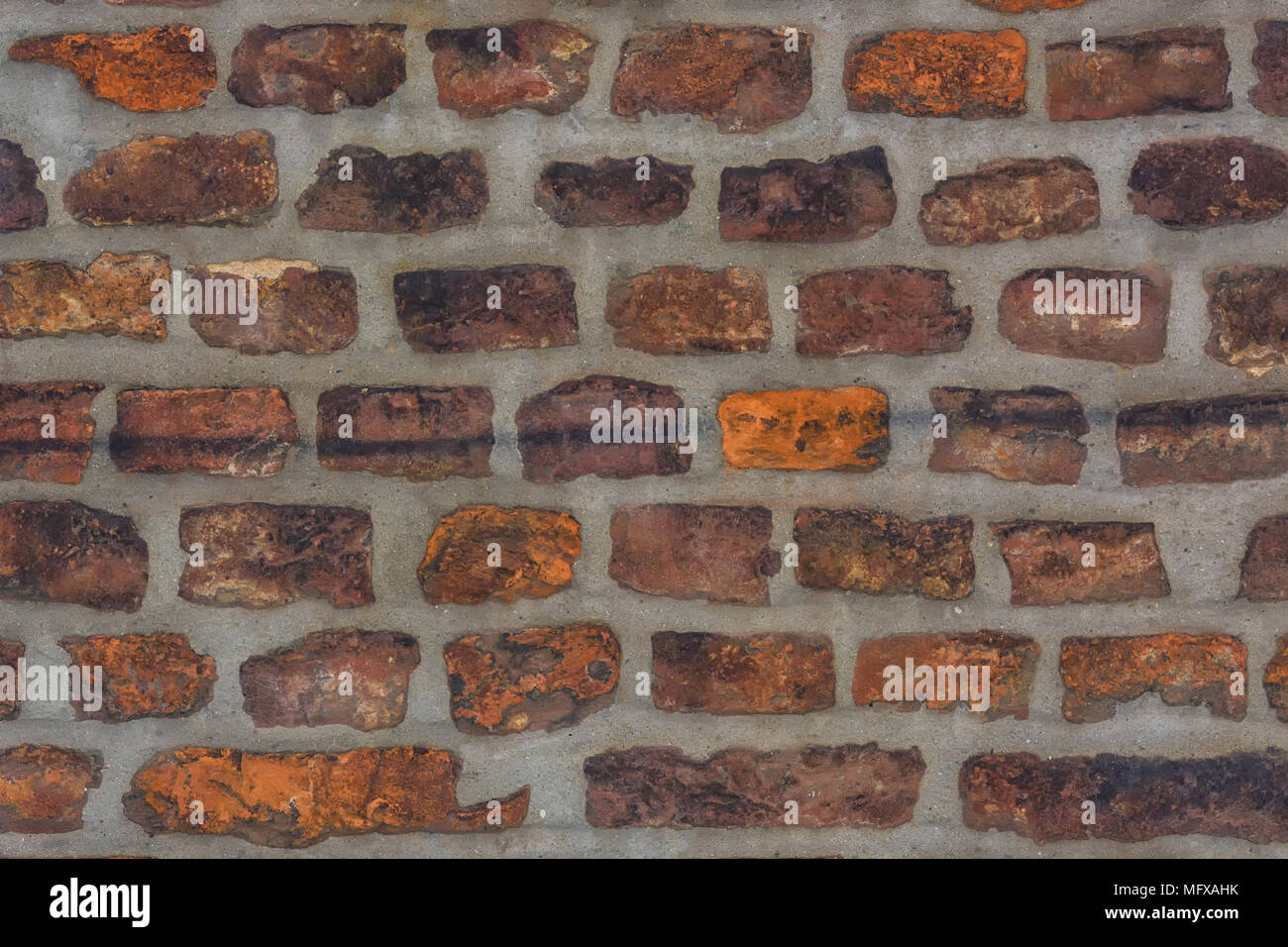 Red Brick Wall Texture Grunge Background Can Be Used In Interior