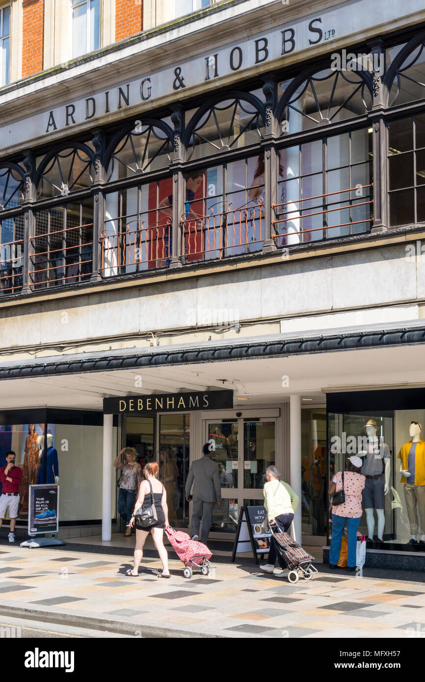 The old Arding & Hobbs department store at Clapham Junction now contains a branch of Debenhams. - Stock Image