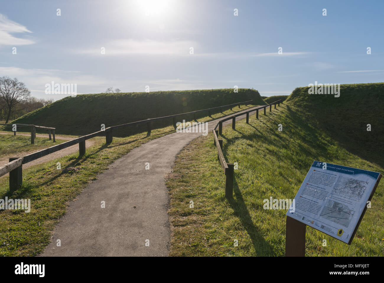 Valdemar´s Wall, built about the year 1060 by King Valdemar the Great of Denmark,Dannewerk, Schleswig-Holstein, Germany, Europe - Stock Image