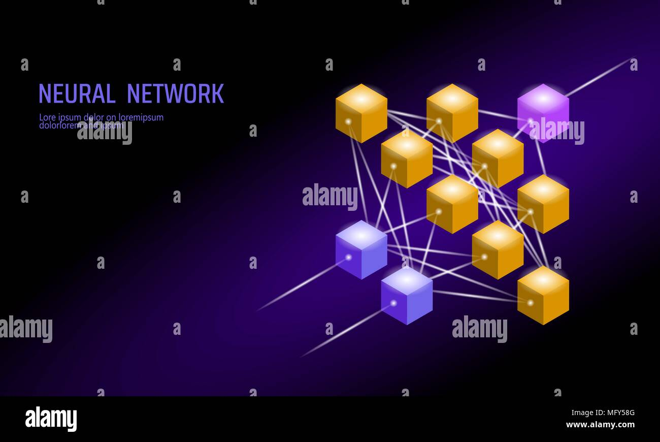 Neural net neuron network deep learning cognitive technology neuron network deep learning cognitive technology concept logical artificial intelligence memory processor mathematics violet neon color gold yellow ccuart Images