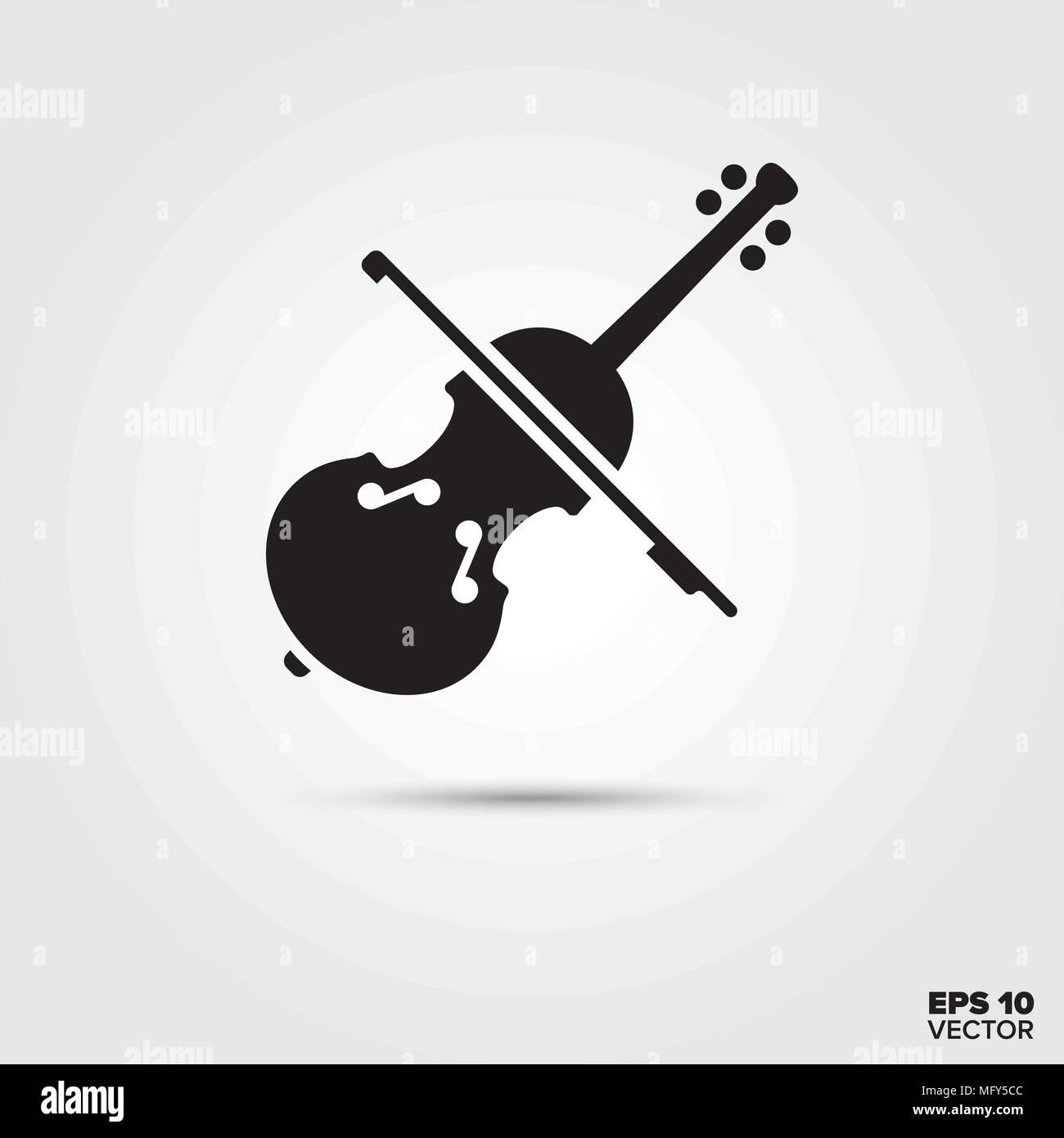 Violin Icon Musical Instrument Symbol Eps 10 Vector Stock Vector