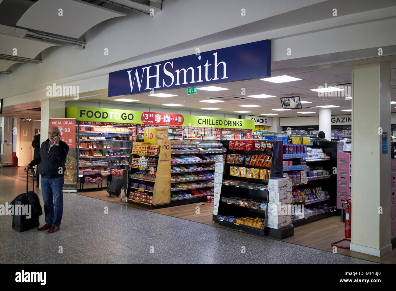 wh smith store in bristol airport england uk - Stock Image