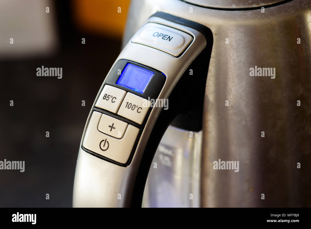 Kettle controls - Stock Image