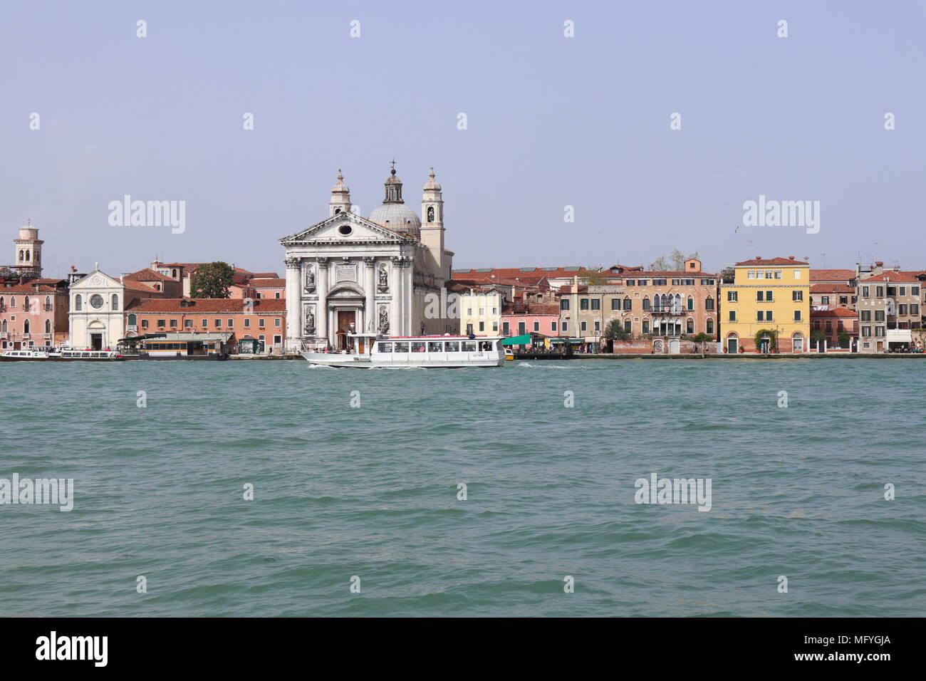 Chiesa di Santa Maria del Rosario, sunny day, Dorsoduro, Venice, Italy, Europe Stock Photo