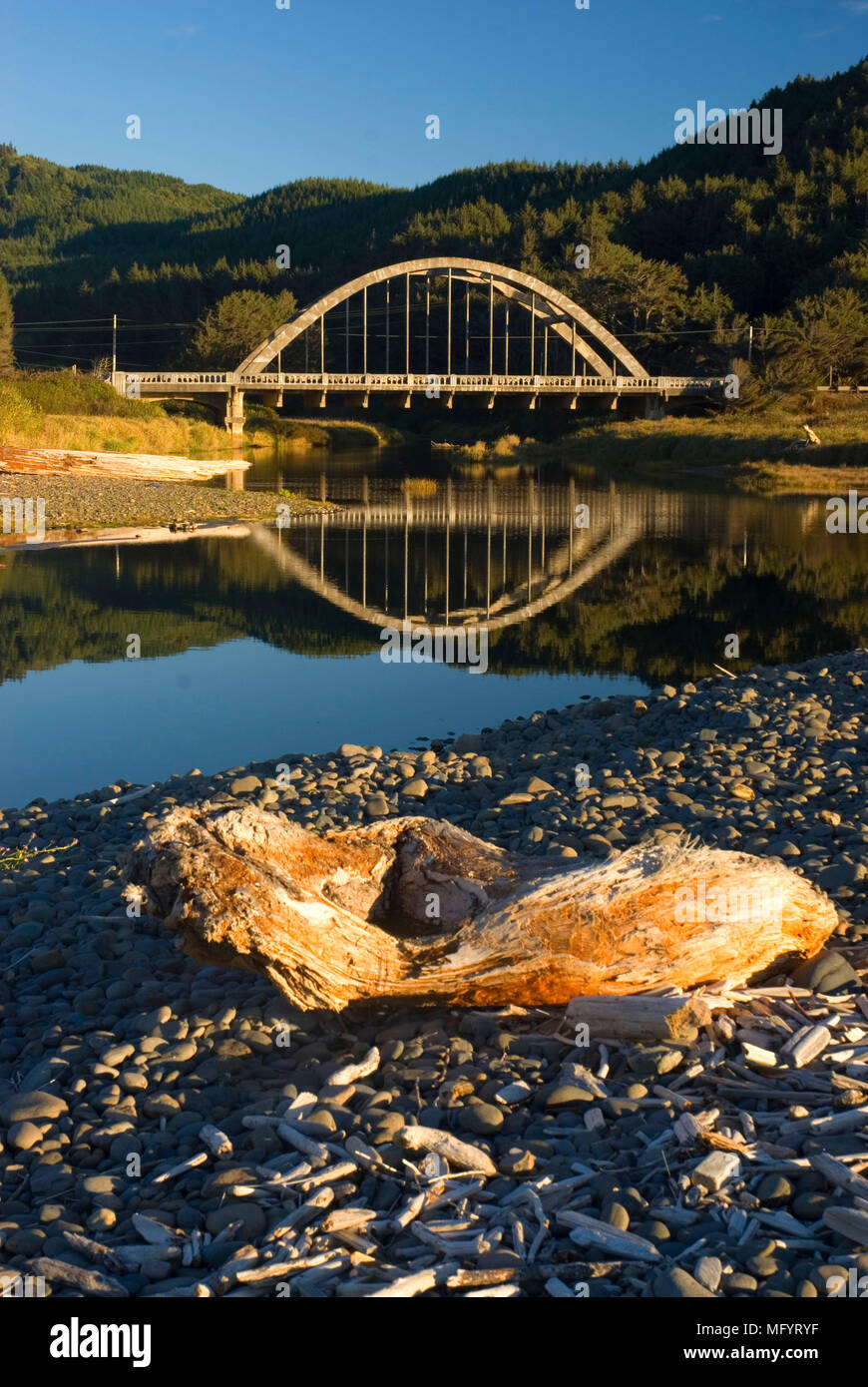Tenmile Creek Bridge, Stonefield Beach State Park, Oregon - Stock Image