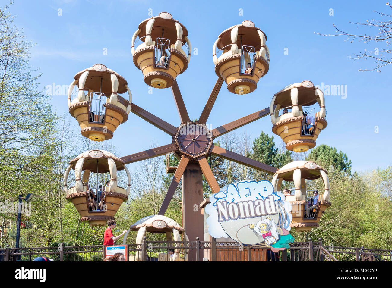 Aero Nomad ride in Kingdom of The Pharaohs, Legoland Windsor Resort, Windsor, Berkshire, England, United Kingdom - Stock Image