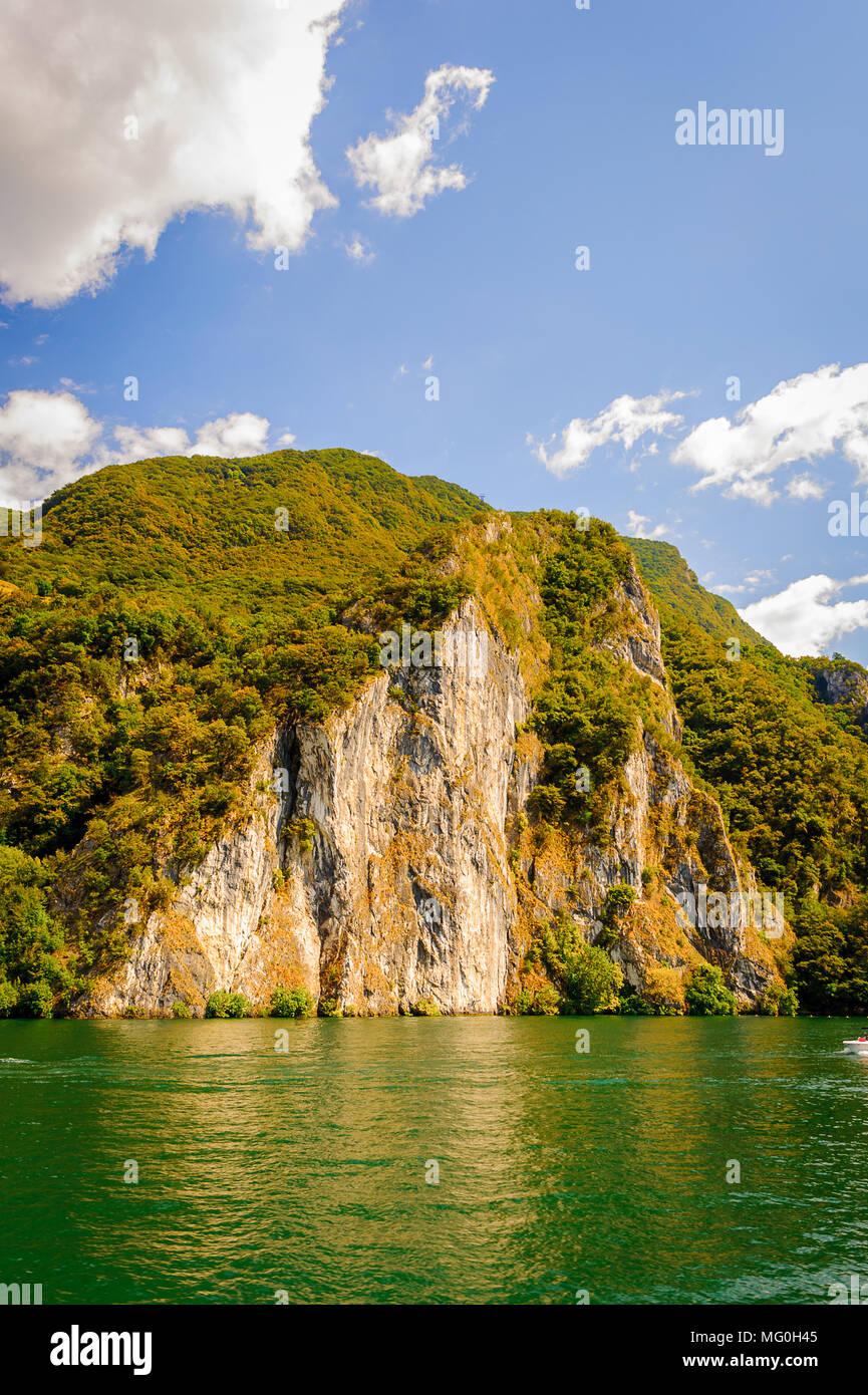 Mountain of the lake of Lugano, Switzerland Stock Photo